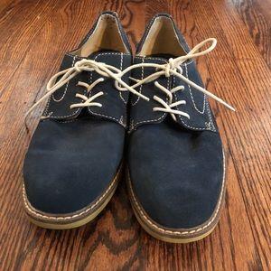 Bass Boxford Navy Blue Suede Shoes Mens US Sz10D